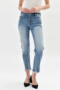 High Rise Slim Straight Jeans KC8635