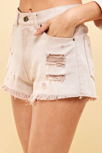 Blush Denim Shorts