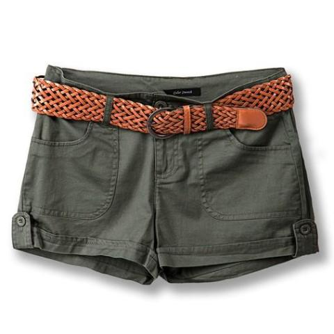 Junior Boho Cotton Twill Shorts