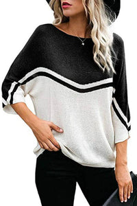 Color Splicing Knitted Top