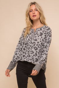 Animal Print Henley