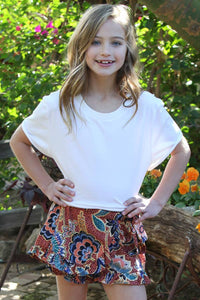 Kid's Wrap Floral Shorts