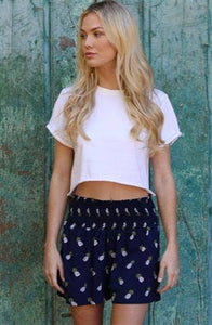 Rolled Cuff Crop Top