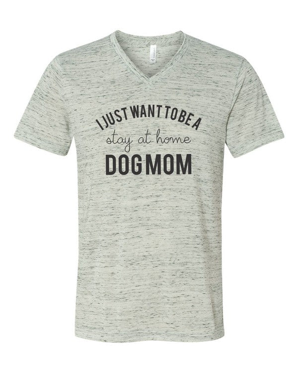 Stay at Home Dog Mom Tee