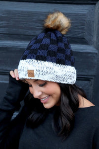 Plaid Accent Hat
