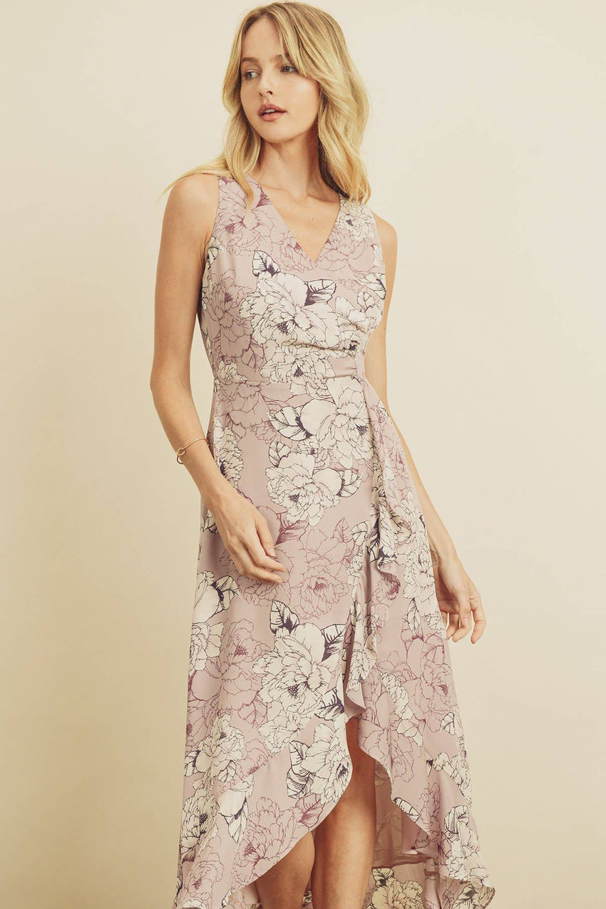 Bloom Sleeveless Ruffled Midi Dress