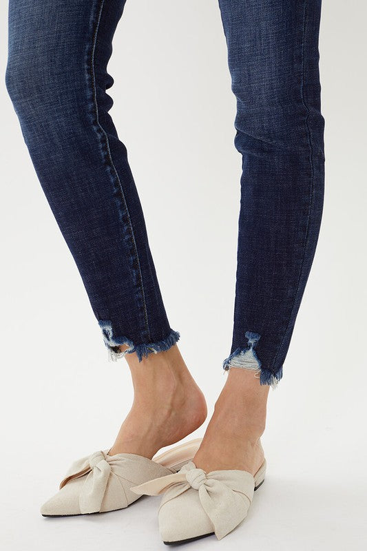 High Rise Ankle Skinny  {kc7274d}