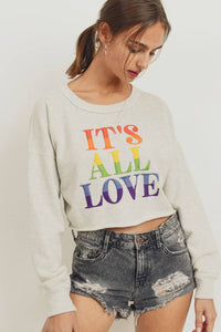 Rainbow Embroidery Crop Top