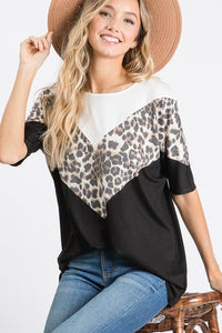 Contrast Chevron Top
