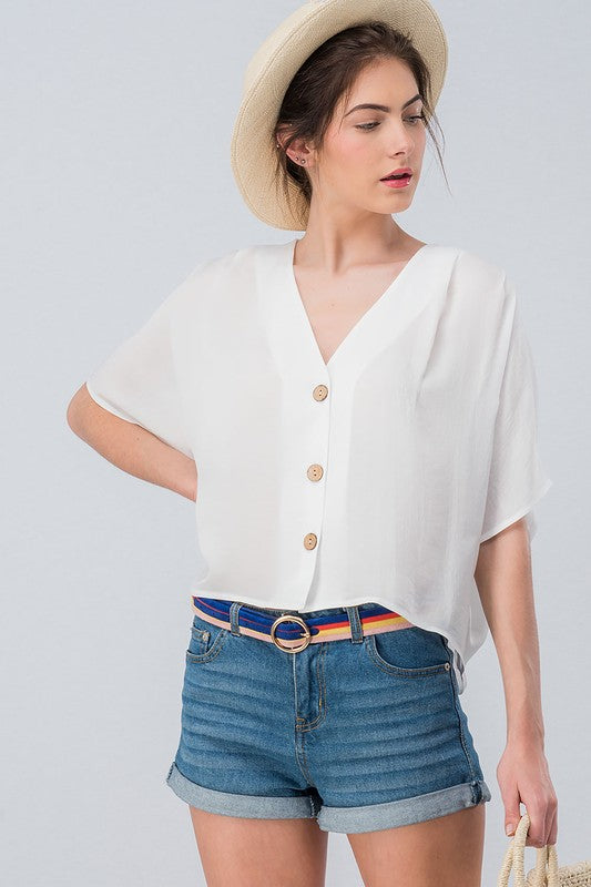 Molly Botton Crop Top