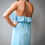 Ruffle Sleeveless Dress