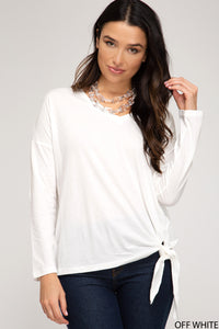 Feeling Fab Tie Detail Top