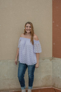 Sugar Ball Off-Shoulder Top
