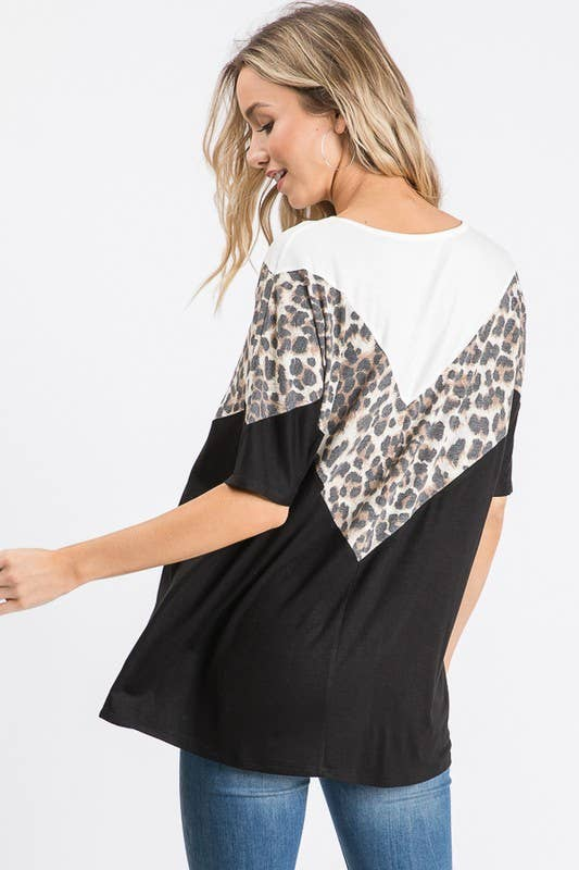 Mixed Contrast Top