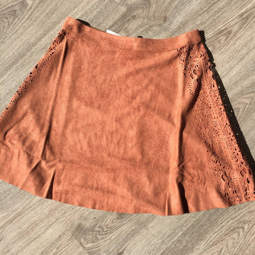 Rusty Suede Skirt