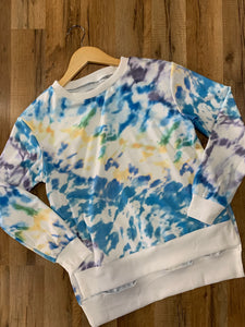 High to Low Tie Dye Top