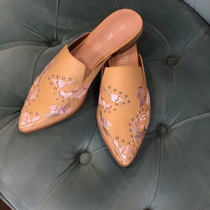 Miranda Floral Embroidered Pointed Flats