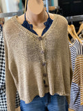 Loose Knit Button Cardigan