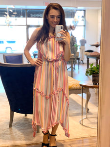 Rowan Tiered Striped Dress