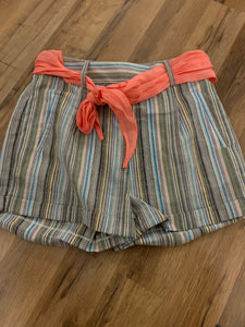 Kamila Striped Belted Shorts