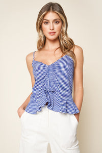 Georgia Gingham Ruched Cami