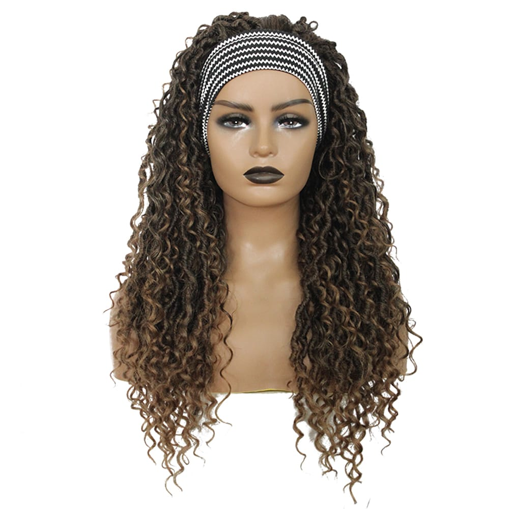 26 inch Curly Faux Locs HeadBand Synthetic Hair
