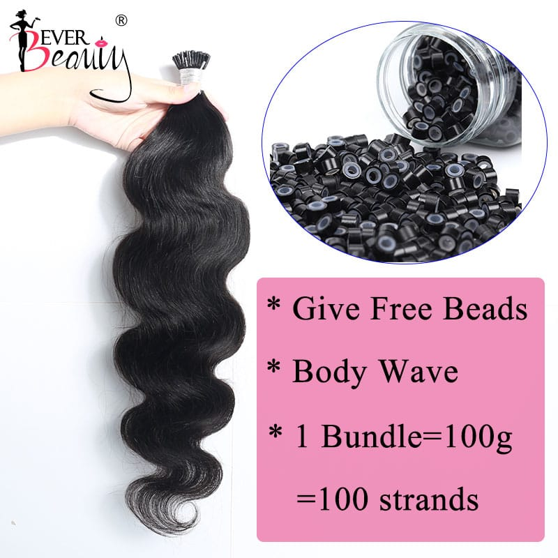 Body Wave Microlinks I Tip Hair Extensions 100% Human Hair