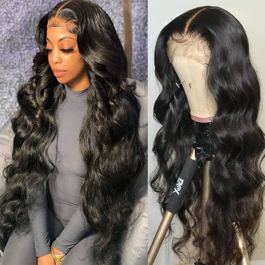 Body Wave Lace Front Wig Human Hair Pre Plucked 28-30 Inch
