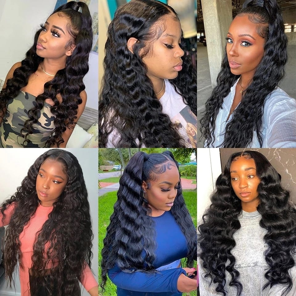 Loose Deep Wave 28-30-32-40 Inch 100% Human Hair Extensions