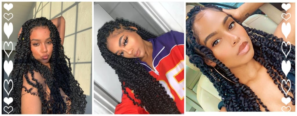 30 4X4 Lace Front Passion Twist Braided Wigs with Baby HaiR