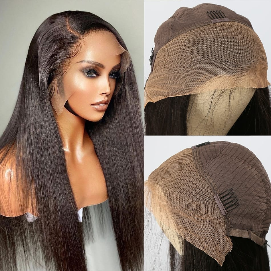 Straight HD Lace Front 30-40 Inch Long Human Hair Wig