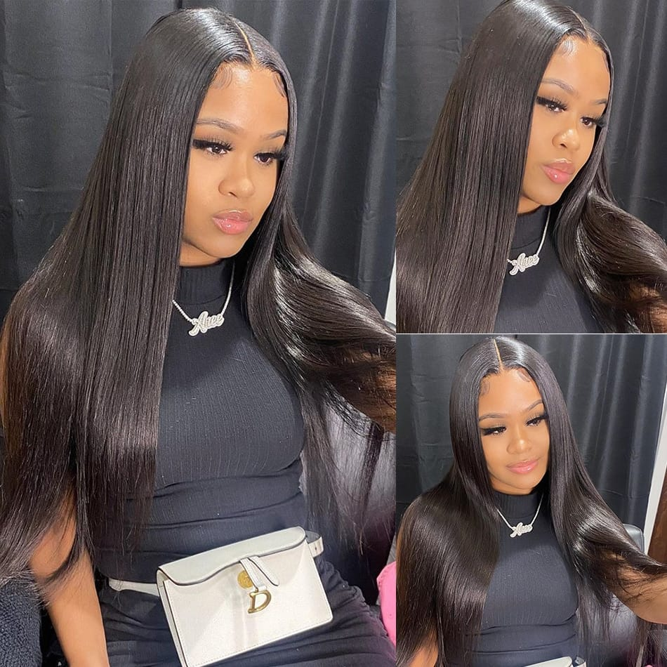 30-32 Inch Bone Straight HD Full Lace Front Human Hair Wig
