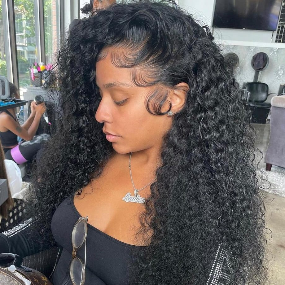 Deep Wave Frontal 40 Inch HD Water Wave Lace Front Wig