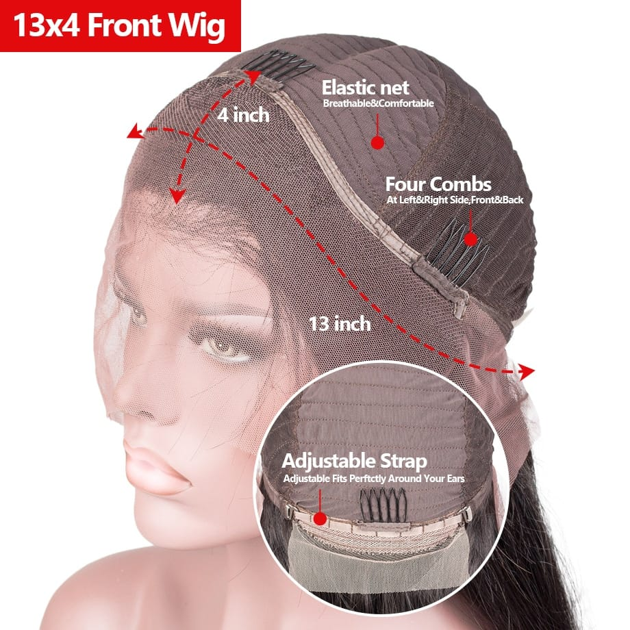 30 INCH Body Wave 13X4 HD Lace Front Wig