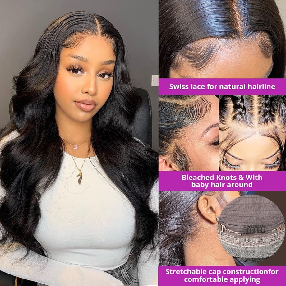 Body Wave 34 inch Lace Frontal Wig