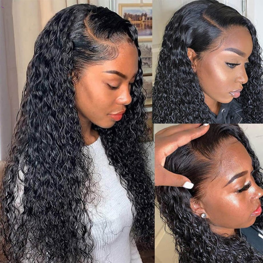 30 Inch HD Water Wave Lace Front Wig