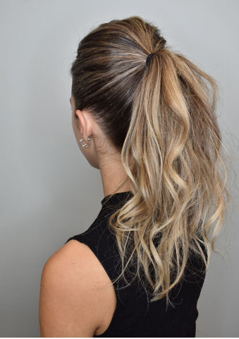 Ponytail with lots of texture