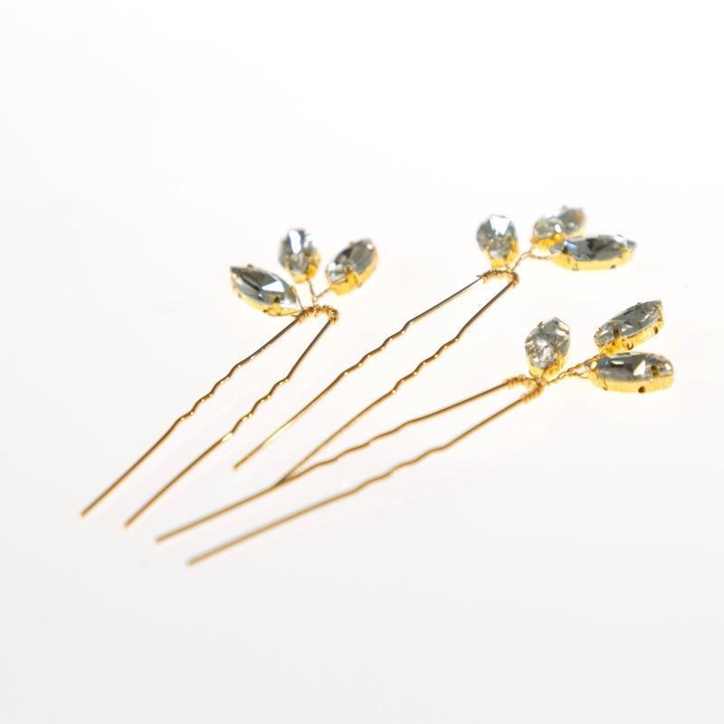 Diamante Leaf Pin-Gildie-Sable Boutique