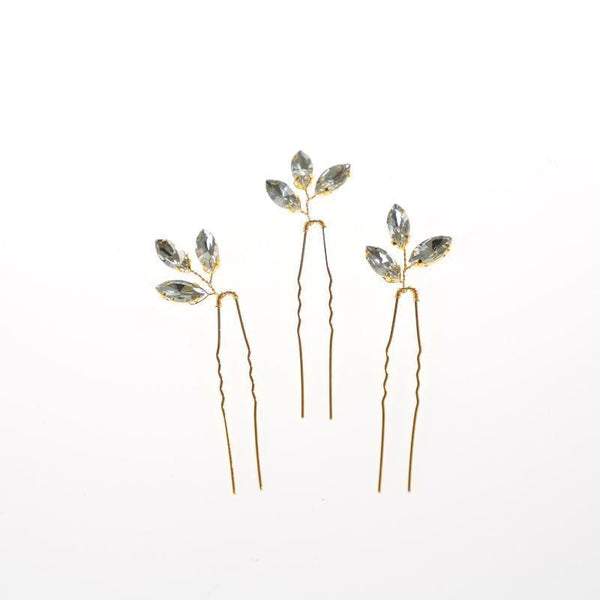 Diamante Leaf Pin-Gildie