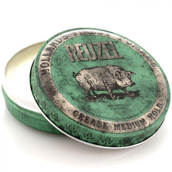 Green Piglet Pomade Grease Medium Hold-Reuzel-Sable Boutique