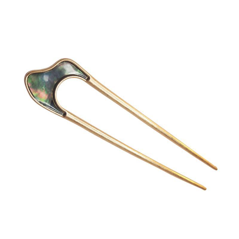 Load image into Gallery viewer, Paua Hair Pin-Gildie-Sable Boutique