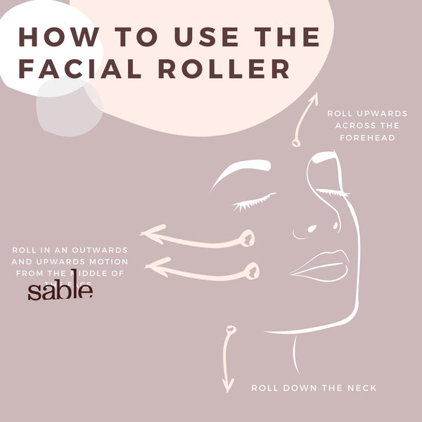 Rose Quartz Facial Roller-Gildie-Sable Boutique