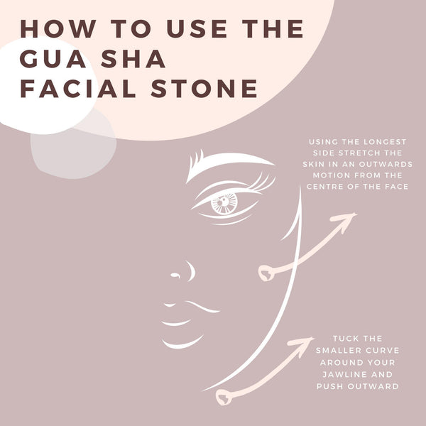 Rose Quartz Gua Sha Facial Stone-Gildie-Sable Boutique