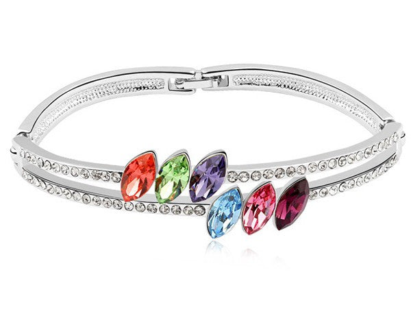 Multicolor Austrain crystal bangle