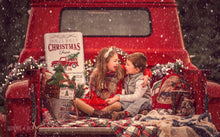 Load image into Gallery viewer, Christmas truck digital backgrounds