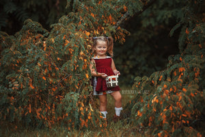 *Pre-Order* Aspen Fall Pinafore dress-Pumpkins