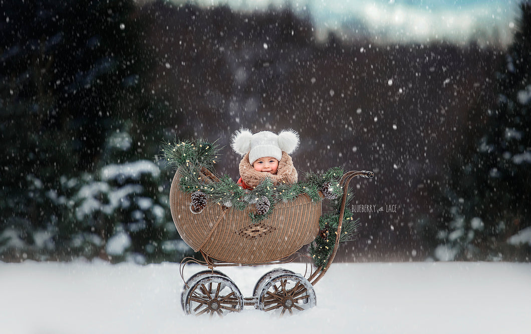 Christmas carriage digital backgrounds