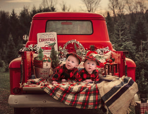 Christmas truck digital backgrounds