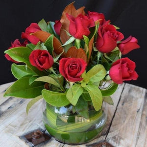 Dozen Red Rose Fishbowl