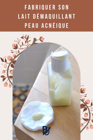 épingle pinterest lait démaquillant peau acnéique